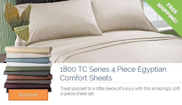 1800 TC Series 4 Piece Egyptian Comfort Sheets- $35 with Free Shipping